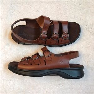 Clarks Springers Brown Leather Classic Sandals 6.5